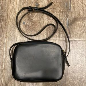 Jcrew leather camera bag